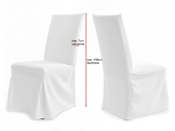 Stuhlhussen für Stühle mit gepolsterter Lehne PARIS XL