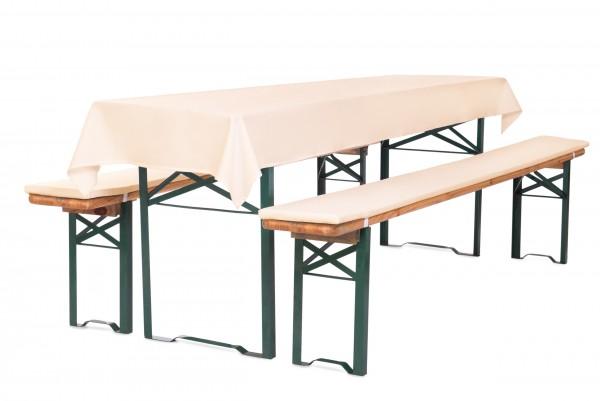 Bierbankauflagen für Bierzeltgarnitur 3TLG Set mit Tischdecke | RV zum selber aufziehen ↨ 2,2cm