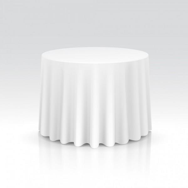 Runde Tischdecken weiß - 100% Polyester