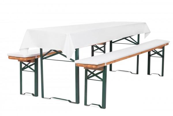 Bierbankauflagen mit Reißverschluss und Tischdecke zum selber aufziehen 4,2cm 3tlg Set