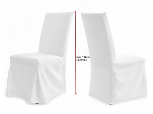 Universal Stuhlhussen für extra hohe Lehne bis 116cm PARIS PLUS