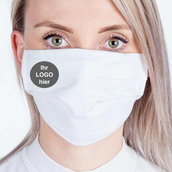Behelfs- Mund & Nasen Schutz mit LOGO
